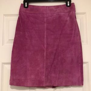 Hot Pink Suede Skirt